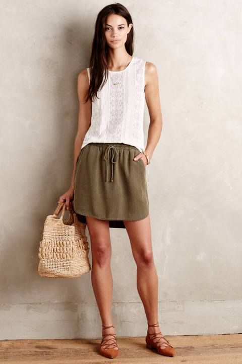 Boardwalk Skirt by Cloth & Stone #anthrofave #anthropologie