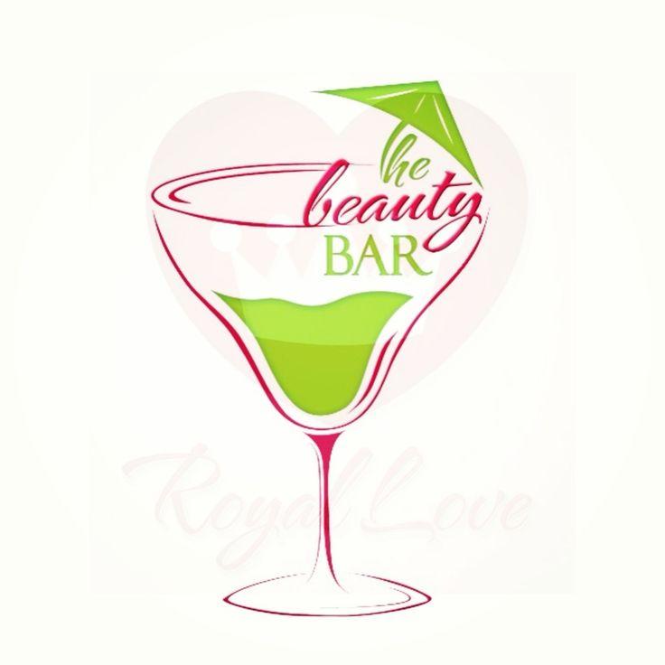 the beauty bar logo logo bar martini beauty makeup