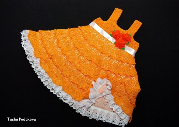 Crochet Baby Dress por begonvilliev