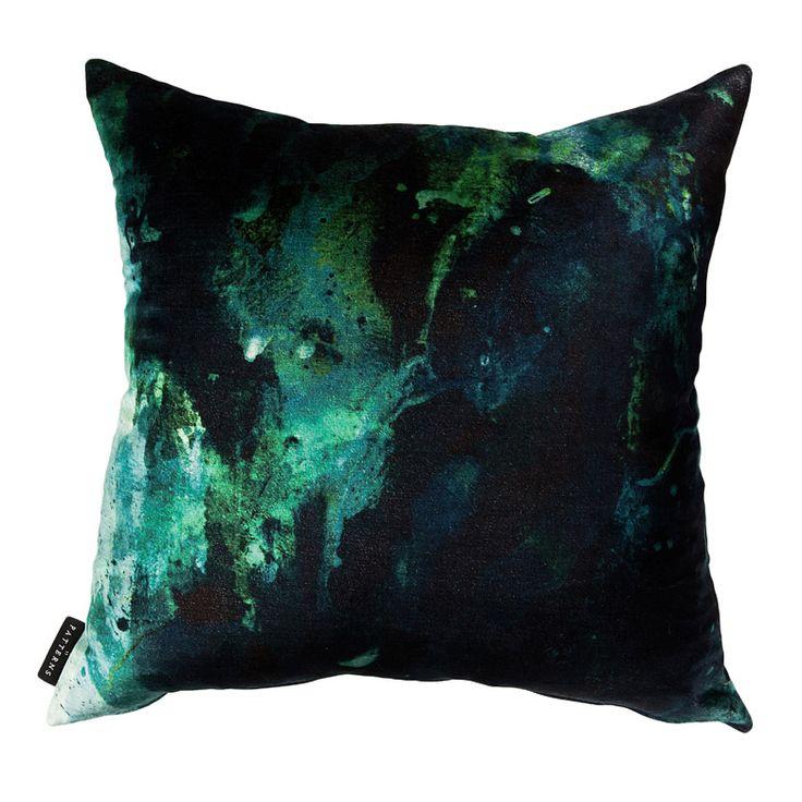 Beyond Nebulous Blue & Green Cushion - 17 Patterns