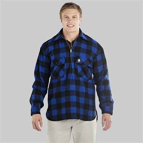Swanndri Men's Ranger Wool Shirt | Blue/Black check