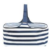Found it at Wayfair - Latitude 38 Nautical Stripe Insulated Picnic Basket