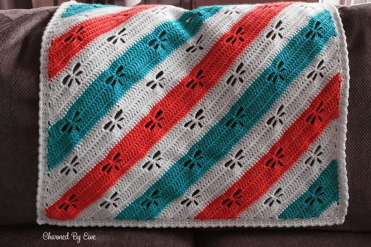 NEW! Free Crochet Pattern: Dragonfly C2C Throw