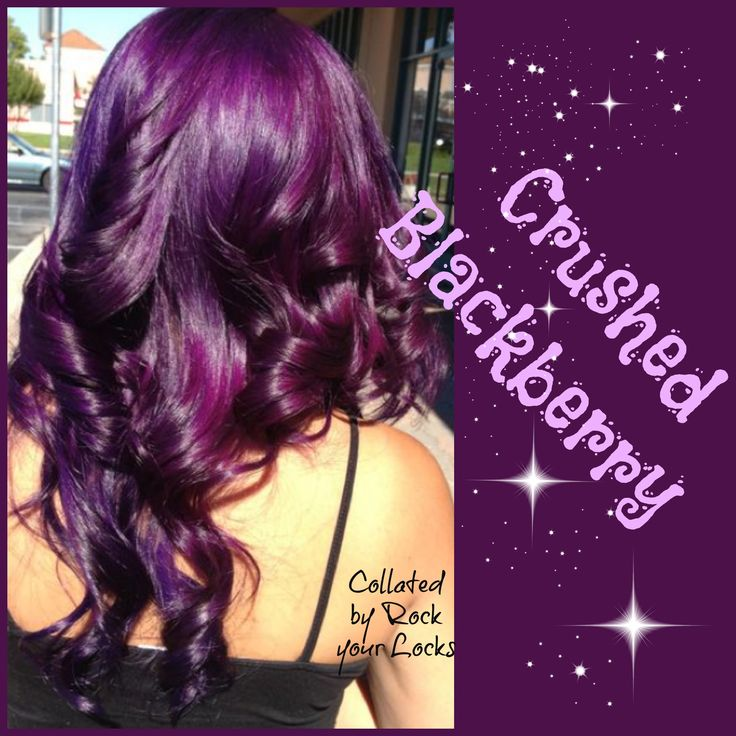 Crushed Blackberry Hair Colour Inspiration - Purple Hair ♡ Rock your Locks