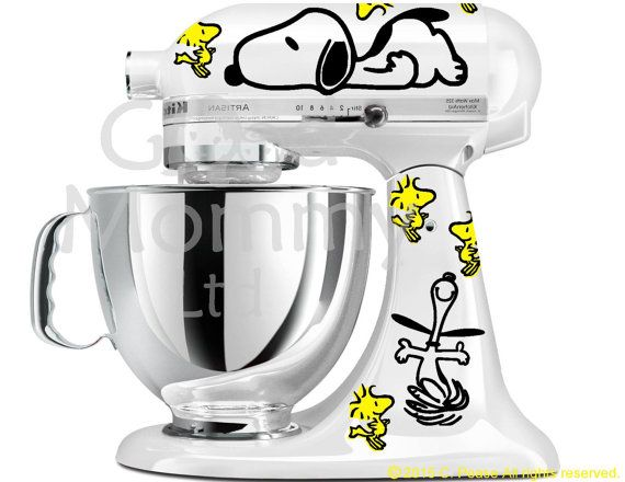 Diy Kitchenaid Mixer Decals ~ Peanuts inspired stand mixer decal kit for your kitchenaid