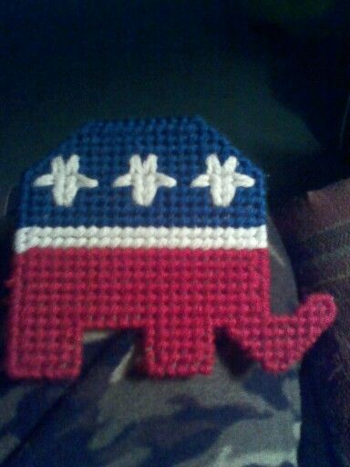 7 best images about republican crafts on pinterest doll for Plastic canvas crafts for kids