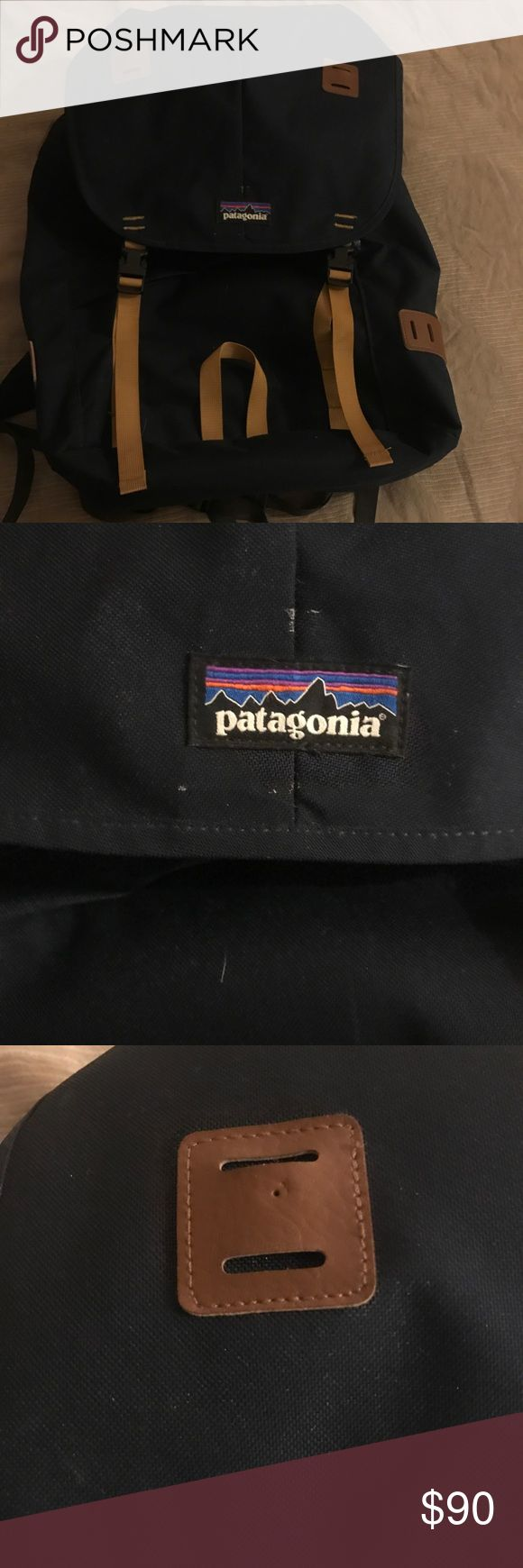 Patagonia Arbor Backpack 26L Patagonia Arbor Pack. Barely used. Two flaws: a tiny hole on the leather piece from a pin. A small amount of glue on the side from a patch. Could be washed out easily, but I have not washed it yet. Patagonia Bags Backpacks