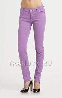 Светло фиолетовые джинсы