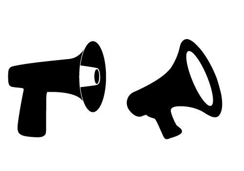 download free megaphone vectors for communication project designs silhouette clip art. Black Bedroom Furniture Sets. Home Design Ideas