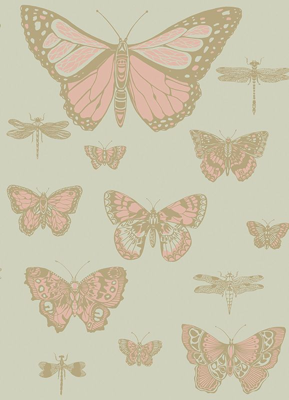Cole & Son - Butterflies & Dragonflies - Whimsical 103/15063 Wallpaper
