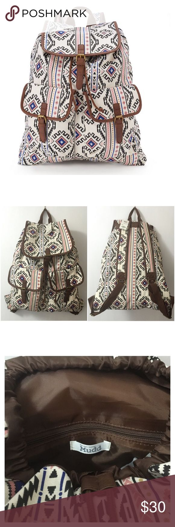 🌼SPRING Mudd Backpack🎒SALE🌈 Mudd Aztec Backpack.  Carry everything you need for the day in this stylish Mudd Bag.  In Tan. Mudd Bags Backpacks