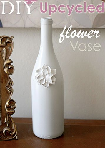 DIY decorative case made from a wine bottle.