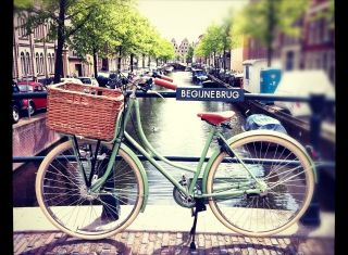 Betty in Haarlem, May 2012, classic dutch bikes and accessories from Beg Bicycles
