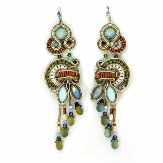 Soutache - Love the colors and the dangles at the end.