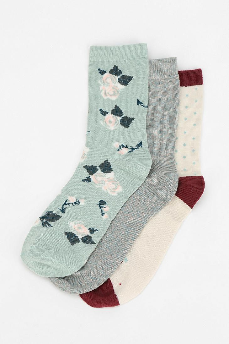 Urban Outfitters - Kimchi Blue Floral Crew Sock - Pack Of 3