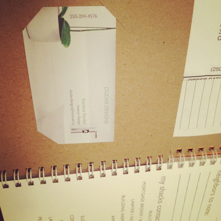 Insert business card and shackpacks make a great client gift