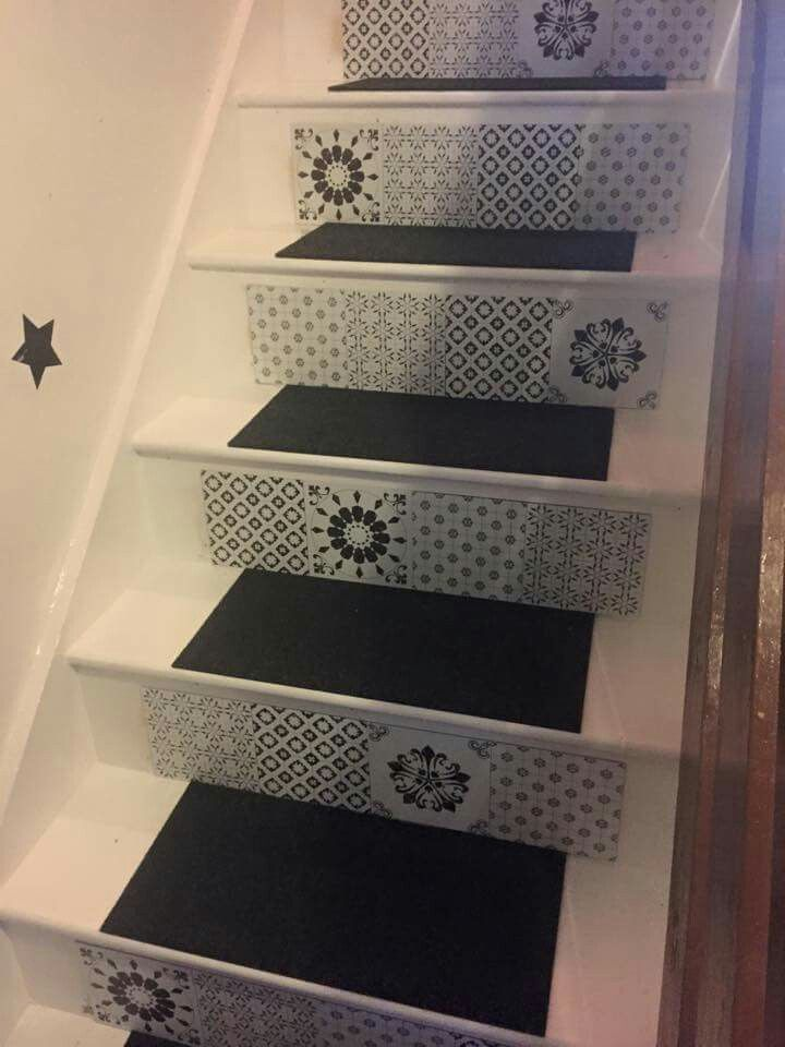 Beautiful tiled stairs!