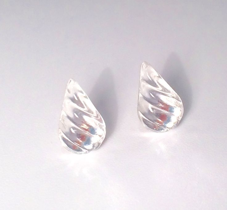 Vintage little oval crystal earrings AB rainbow Czech glass studs on new sterling silver 925 posts and backs ykrmiEHqTW