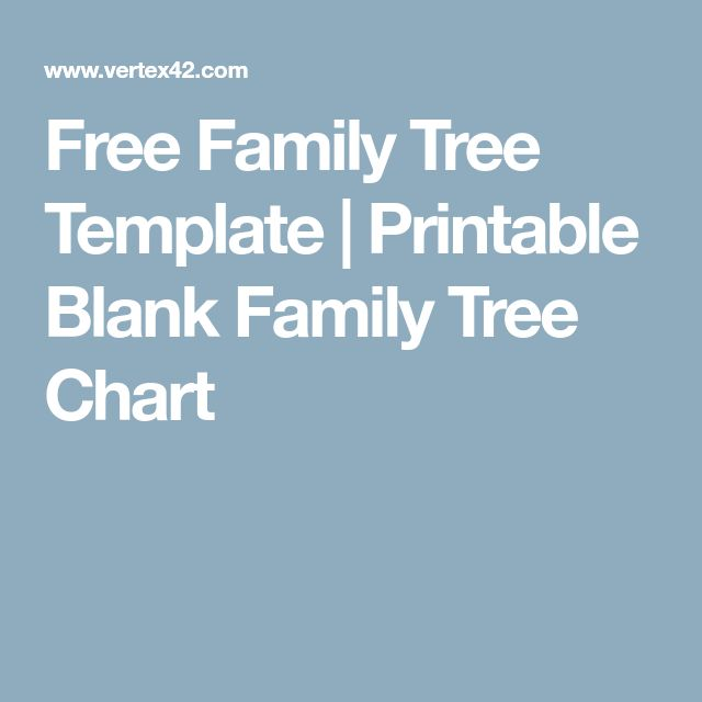 The  Best Free Family Tree Template Ideas On   Family