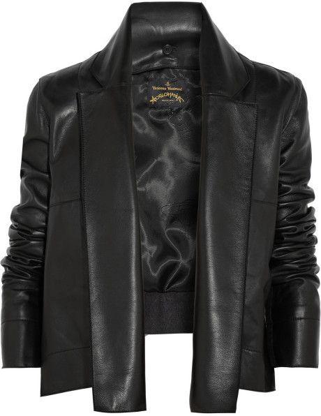 Vivienne Westwood Anglomania Renee Feltpaneled Leather Jacket in Black #black #style #fashion