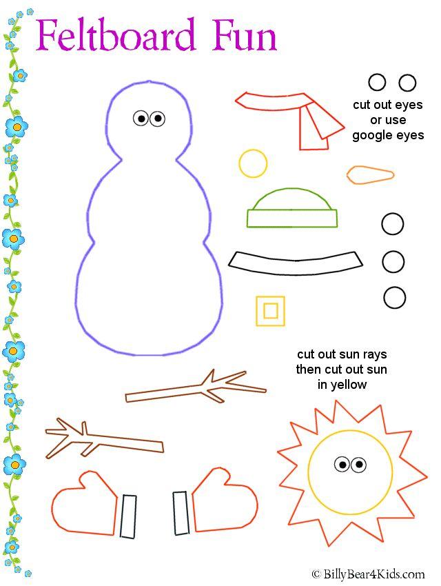 Misc - make a Snowman for felt board