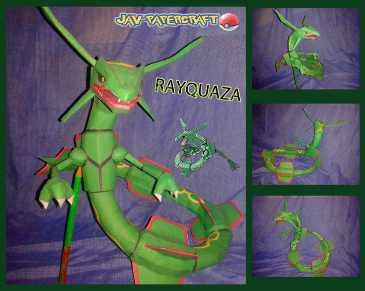 Pokemon Rayquaza Paper Model