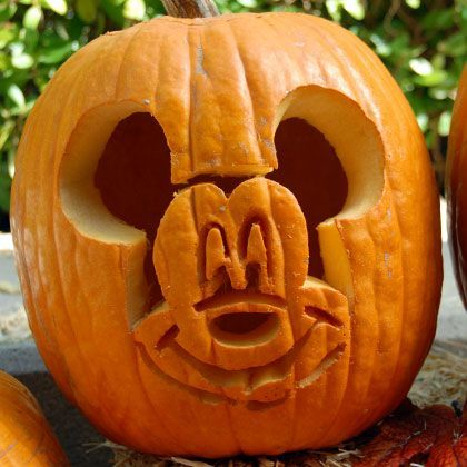 Mickey Mouse Pumpkin-Carving Template