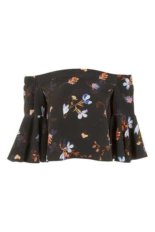 PETITE Floral Bardot Top - Tops - Clothing - Topshop