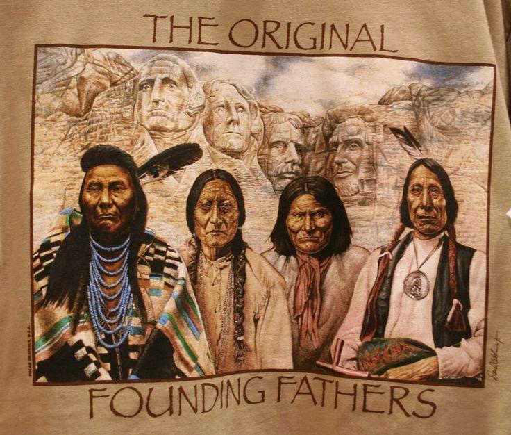 The Native American Ancestry. L-R: Chief Joseph (1840-1904 / Nez Perce) - Chief Sitting Bull (1831-1890 / Hunkpapa Lakota Sioux) - Chief Geronimo (1829-1909 / Chiricahua Apache) - Chief Red Cloud (1822-1909 / Oglala Lakota Sioux).