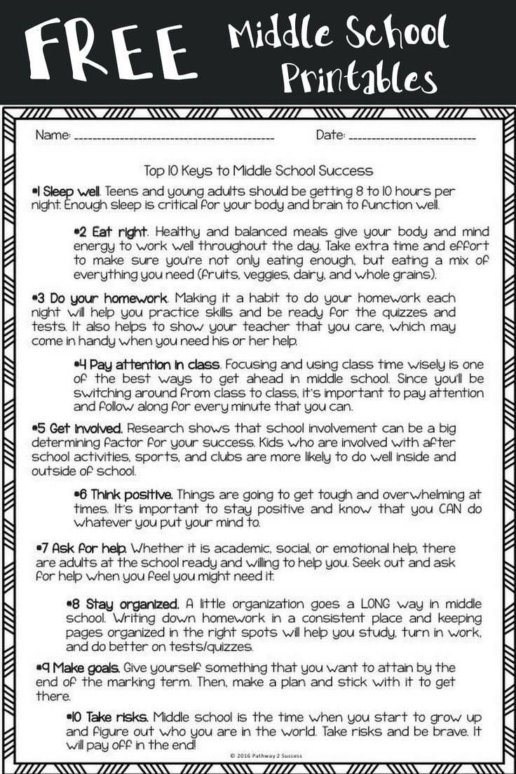 free middle school worksheets perfect for kids heading to middle school or to use in advisory. Black Bedroom Furniture Sets. Home Design Ideas