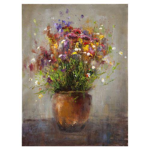 Found it at JossAndMain - Bassett Mirror Copper Vase Canvas Painting