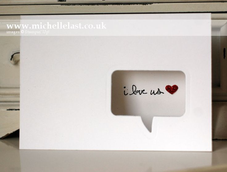 Word bubble I love you card