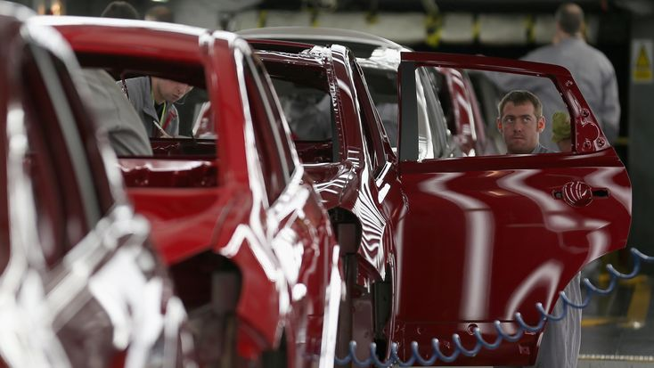 Car production at British factories has fallen to an 18-month low after deliveries to the domestic market collapsed by more than 28 per cent.  Latest industry figures published today report a 4.6 per cent decline in the number of cars rolling off assembly lines in November to 161,479, taking annualised output to 1.69 million.