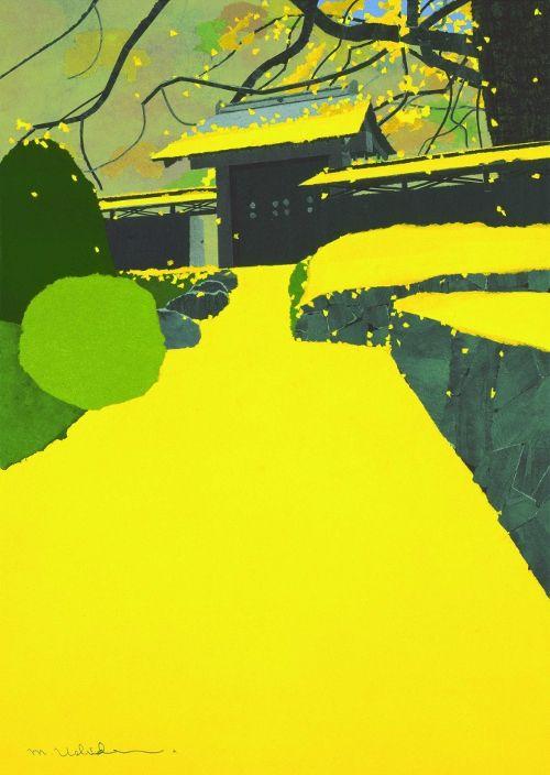 【楽天市場】絵ハガキ 内田正泰 ピエゾグラフ版画 秋雨の翌朝【徹子の部屋出演 うちだまさやす】【メール便100円・代引不可】【10P19Jun15】:フロームラボショップ