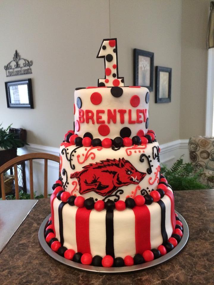 - Razorback themed first birthday