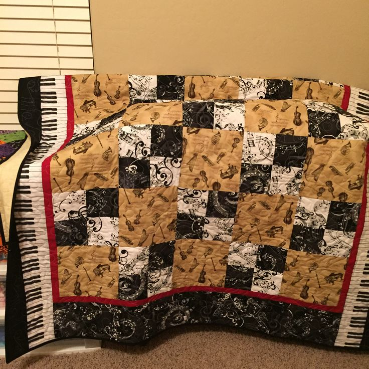18 best Music theme quilts images on Pinterest | Music, Baby ... : theme quilts - Adamdwight.com
