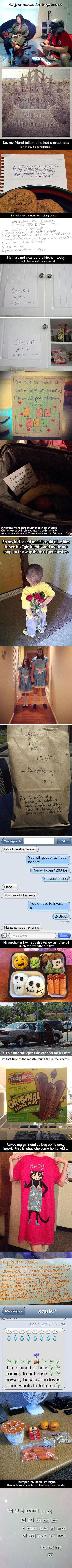 Here are some funny and creative ways that geeky couples express their love.