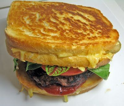 The Grilled Cheesus Burger,Portland Oregon's Grilled Cheese Grill