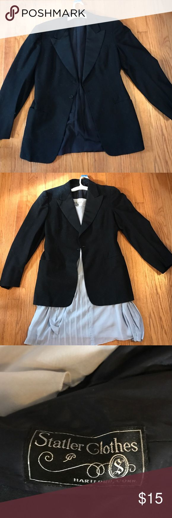 Tuxedo jacket Old fashioned tuxedo jacket perfect for pairing with that fancy dress or work outfit.  Men's small. Women's medium. Jackets & Coats Blazers