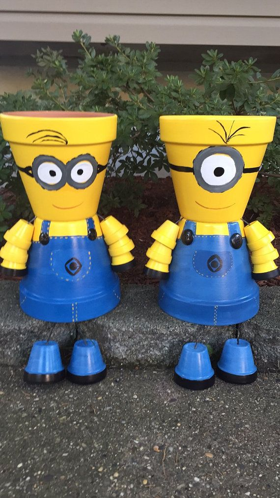 MINION Pot Person Minion Girl or Minion Boy par GARDENFRIENDSNJ