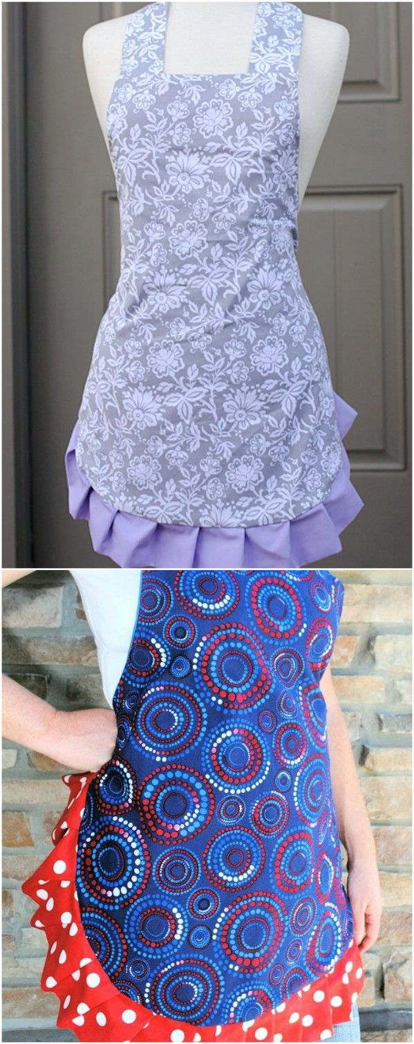 Cute DIY Apron ~ Make from old sheets!