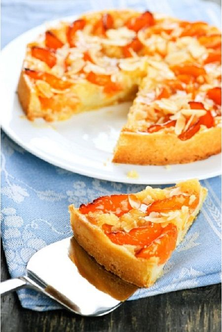 Ingrédients:  1 boîte d'abricots au sirop, 100 g de sucre en poudre, 50 g de beurre, 1 c. à soupe de poudre d'amandes, 2 œufs , Extrait d'amandes amères , 1 pâte brisée déroulée Préparation:  1-Préchauffez le four th.7 (210°C). 2-Étaler la pâte dans un moule à tarte, disposer les abricots sur laRead More