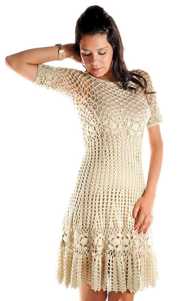 CROCHET FASHION TRENDS exclusive crochet dress by LecrochetArt, $350.00