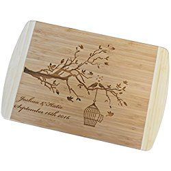 Personalized / Custom Engraved Bamboo Cutting / Carving Board - Wedding Gift, Anniversary Gifts, Housewarming Gift, Birthday Gift