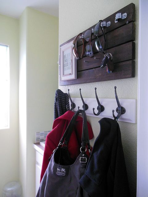 Check out the hardware the sunglasses are looped through! Much better than on the counter or ledge by the garage.