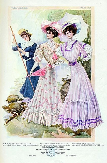 Summer day and sport dresses, McCall's Magazine 1907 by dovima_is_devine_II, via Flickr