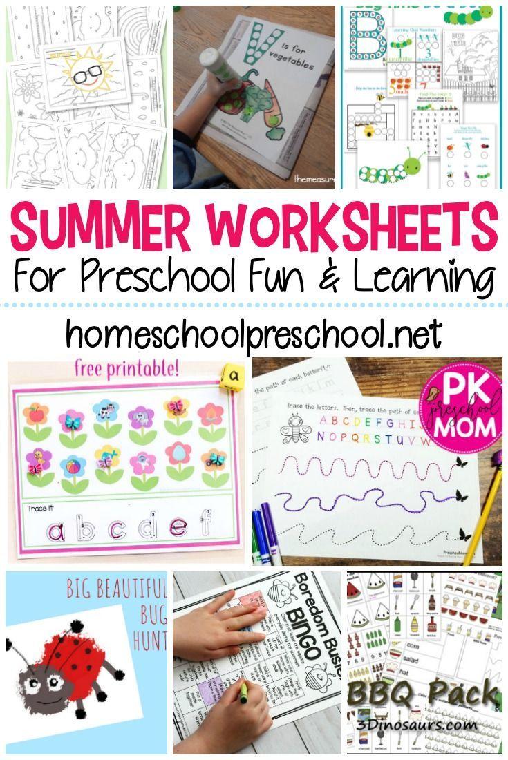 Summer Activities For Preschoolers Summer Worksheets Preschool Summer Worksheets Summer Preschool Activities [ 1100 x 735 Pixel ]