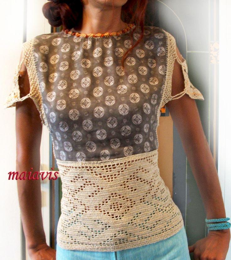 women fashion women clothing etno summer elegant blouse crochet