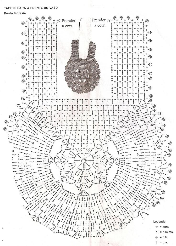 Artesanatos em Crochês Vanda: JOGO PARA BANHEIRO EM CROCHÊ COM GRÁFICO
