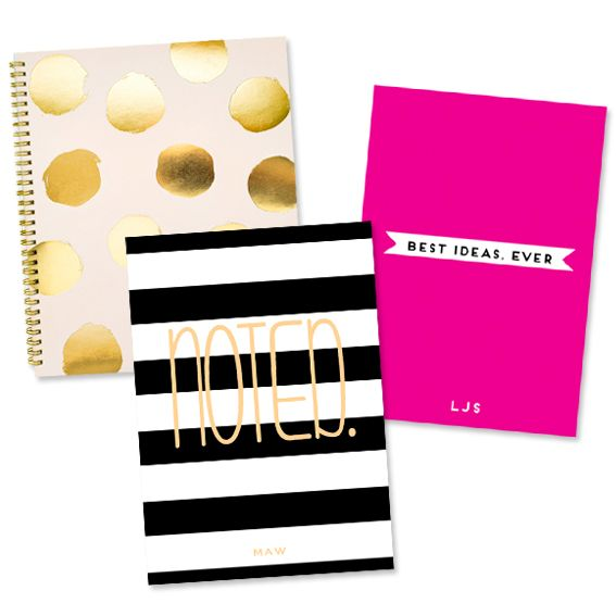 Start the School Year Off Right with Our Back to School Picks! - Polka Dot Notebook, $26, sugarpaper.com; Best Ideas Ever and Noted notepads, $48 each, minnieandemma.com #InStyle